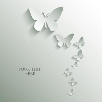 Papillon coupe le style de papier.