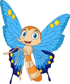 Papillon drôle de dessin animé