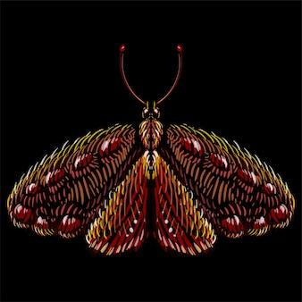 Le papillon du logo vectoriel pour le tatouage ou le t-shirt ou les vêtements d'extérieur