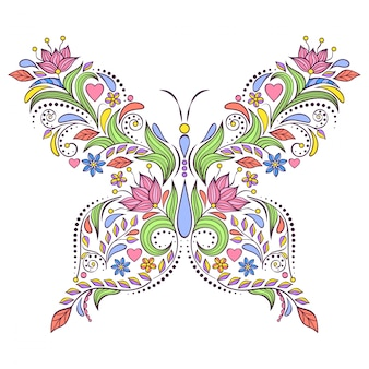 Papillon floral