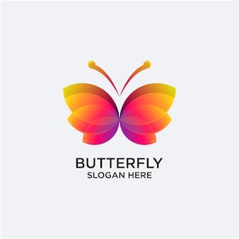 Papillon logo dégradé couleur