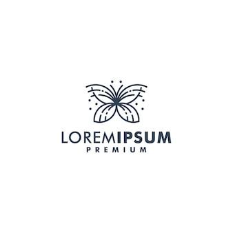 Papillon logo design vector illustration icône logotype