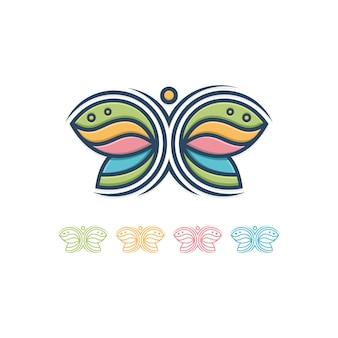Papillon et logo humain