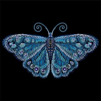 Le papillon de logo vectoriel pour le tatouage ou le t-shirt ou les vêtements d'extérieur. fond de papillon de style d'impression mignon. ce dessin est pour du tissu noir ou de la toile.