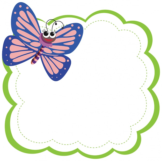 Un papillon sur une note