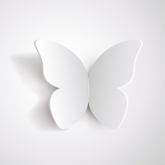 Papillon en papier blanc