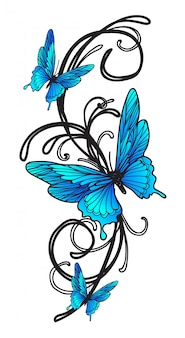 Papillon de tatouage
