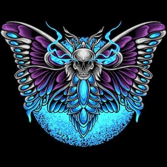 Papillon avec tête de mort