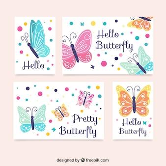 Papillons décoratifs collection de cartes