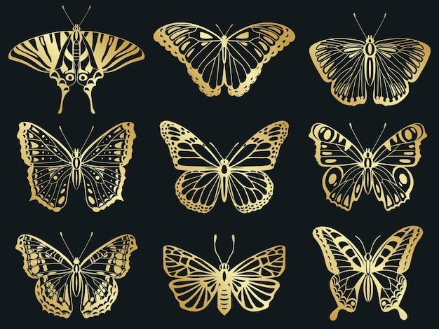 Papillons dorés