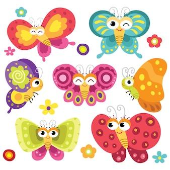 Papillons mignons et colorés