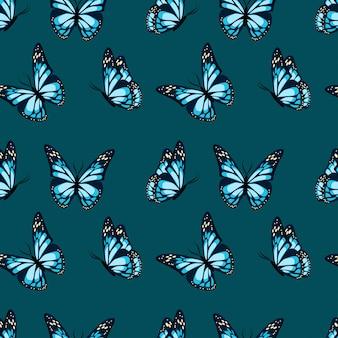 Papillons volant et assis