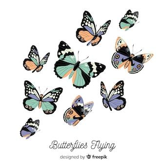 Papillons volant