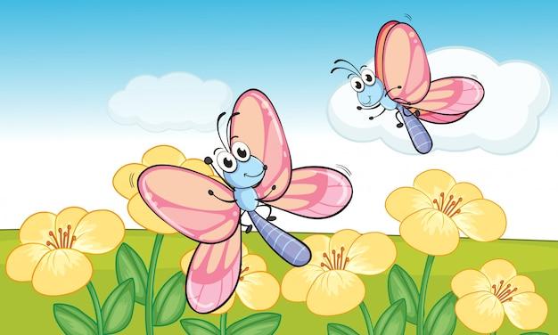 Un papillons volants