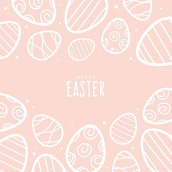 Pâques pastel dessiné à la main