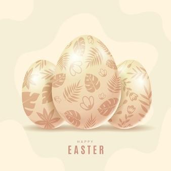 Pâques pastel réaliste