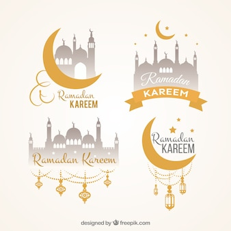 Paquet d'autocollants décoratifs de ramadan kareem