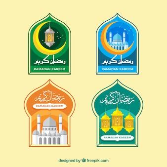 Paquet d'autocollants décoratifs ramadan