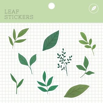 Paquet d'autocollants de feuilles