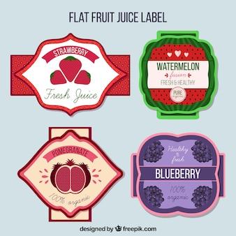 Paquet d'autocollants de fruits anciens