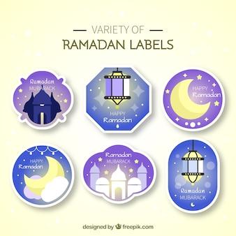 Paquet d'autocollants ramadan