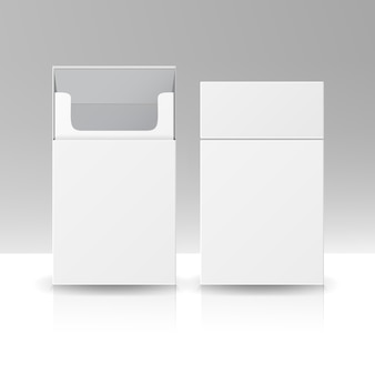 Paquet blanc paquet boîte de cigarettes
