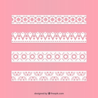 Paquet de bordure décorative en dentelle