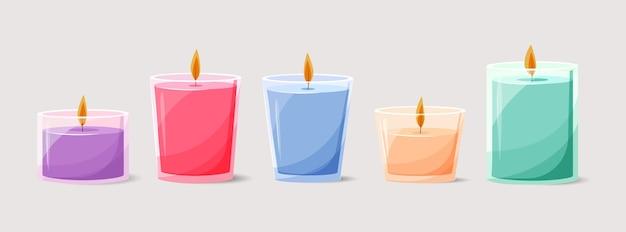 Paquet de bougies parfumées dessinés à la main