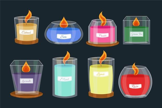 Paquet de bougies parfumées plates