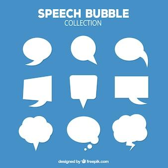 Paquet de bulles de discours blanches