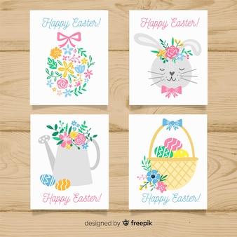 Paquet de cartes de pâques floral