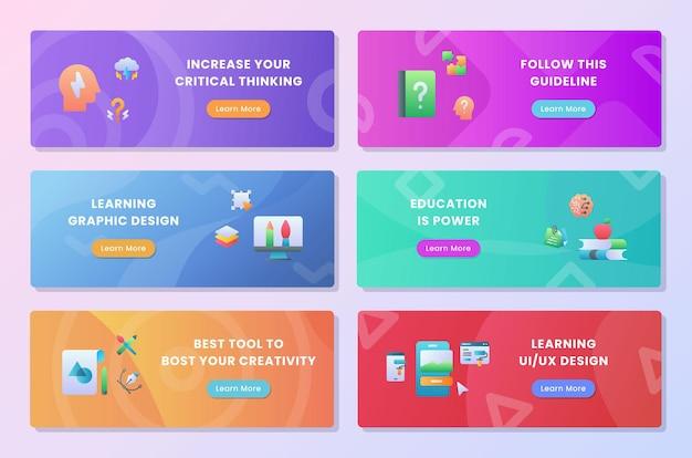 Paquet de collection de jeux d'apprentissage de la créativité