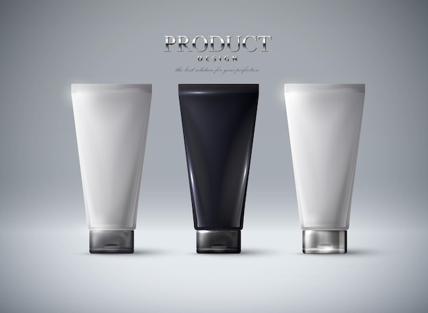 Paquet de cosmétiquesmodèle de tubes de crème