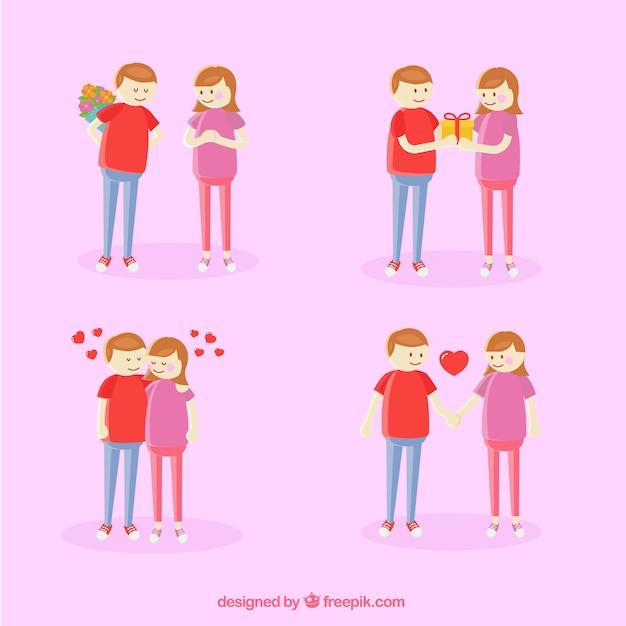 Paquet de couple romantique