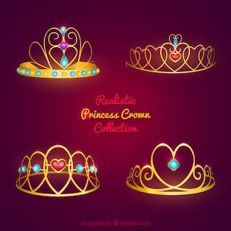 Paquet de couronnes de princesse