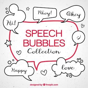 Paquet de croquis discours comique bulles