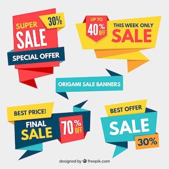 Paquet de vente de bannières origami