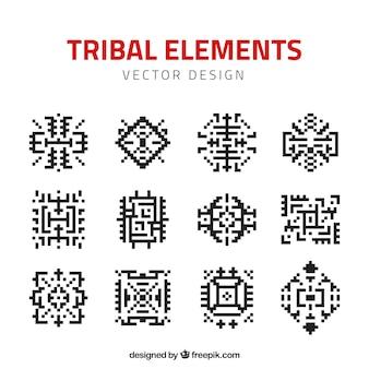 Paquet d'éléments tribaux de pixels