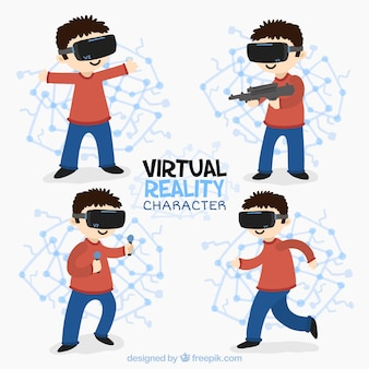 Paquet d'enfants dans les mondes virtuels