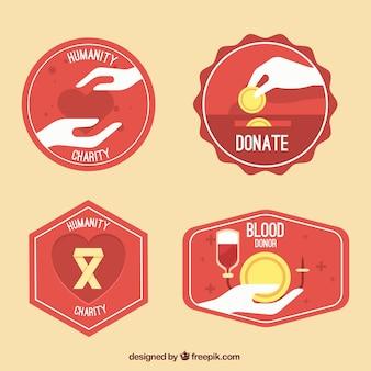 Paquet d'étiquettes de donneurs de sang