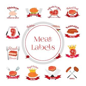 Paquet d'étiquettes de saucisse