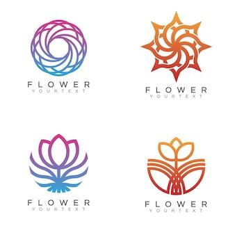 Paquet de fleur logo