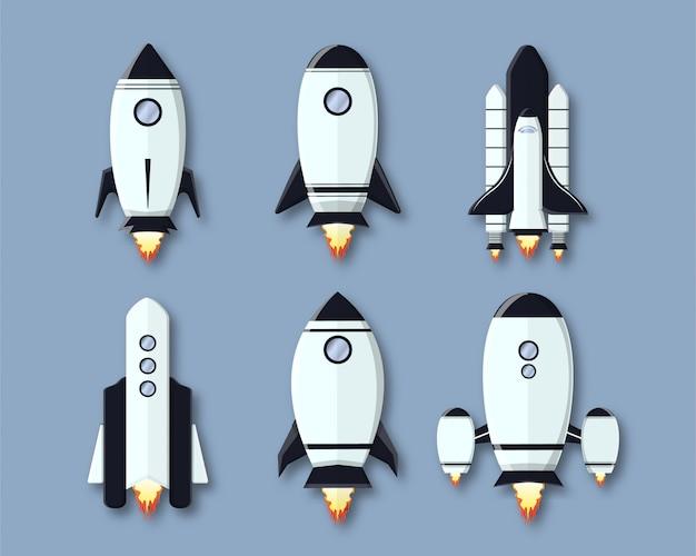Paquet de forme de dessin animé de fusée