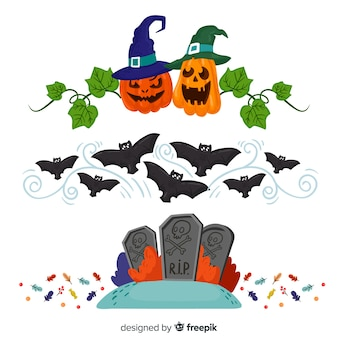 Paquet de frontière d'halloween