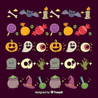 Paquet de frontières d'halloween