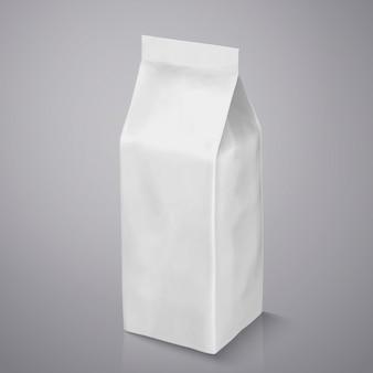 Paquet de grain de café, sachet de papier d'aluminium blanc perle dans l'illustration pour les utilisations