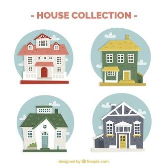 Paquet de grandes maisons d'origines rondes