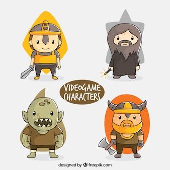 Paquet de grands personnages de jeux vidéo