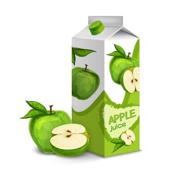 Paquet de jus de pomme