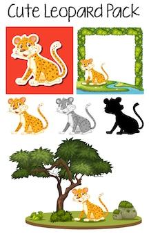 Un paquet de léopard